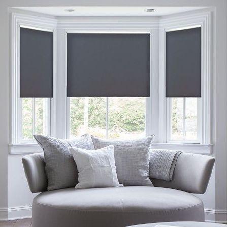 3 grey roller blinds Blindsville
